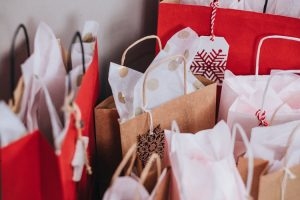 gifts in paper bags
