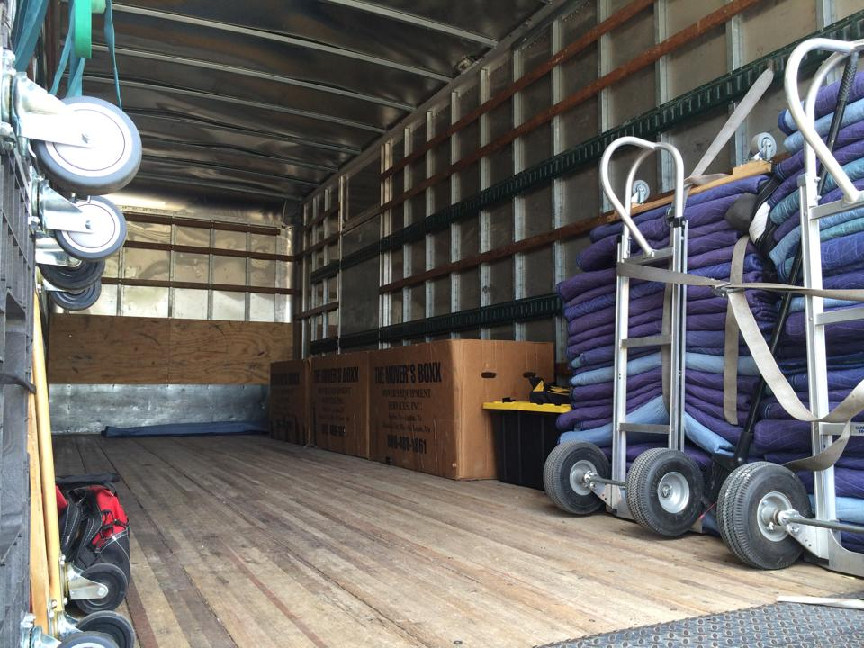interior of the moving truck
