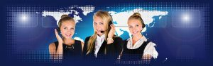 Image of a three women from call center