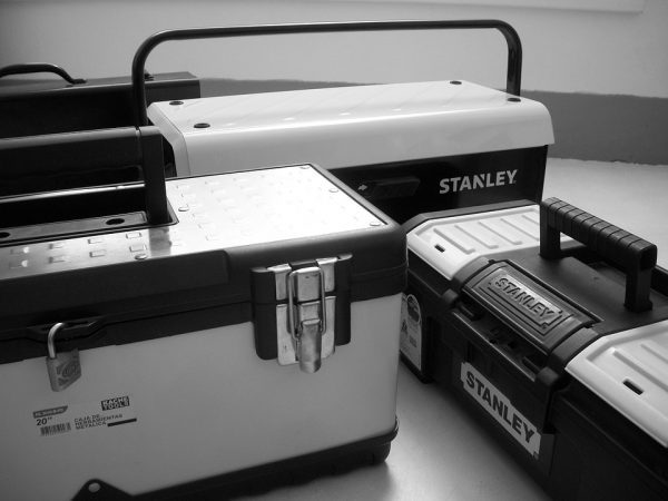 couple of toolboxes as one of the Best gift ideas for first-time homeowners