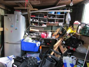 A room full of clutter you need to clean if you want to create additional storage space in your home
