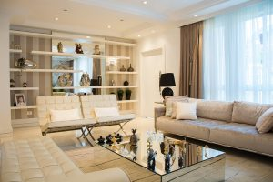 A clean living room is what you get after you declutter your home