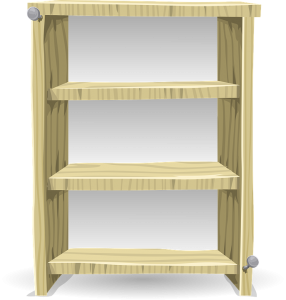 image of shelves