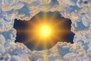 The sun and the clouds